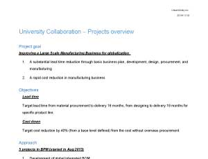 University Collaboration